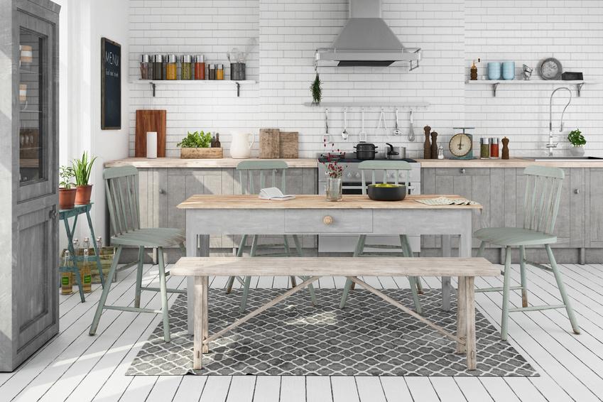 Skandinavische, nordische Kche - Wohnung - Esszimmer